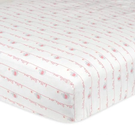 Crib Bedding brand review: Gerber crib sheet