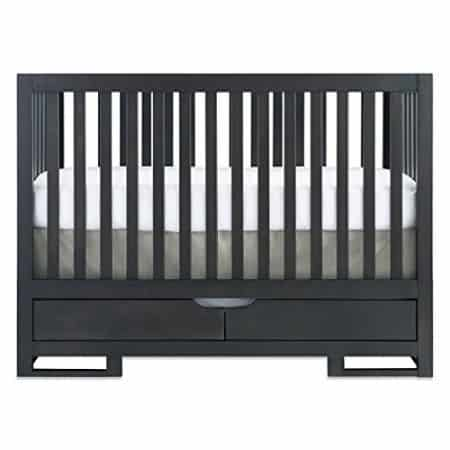 You can get a similar look at $100 less by getting this Karla DuBois Baby OSLO Convertible Crib with Drawer in Chocolate Slate. $400 on Amazon.
