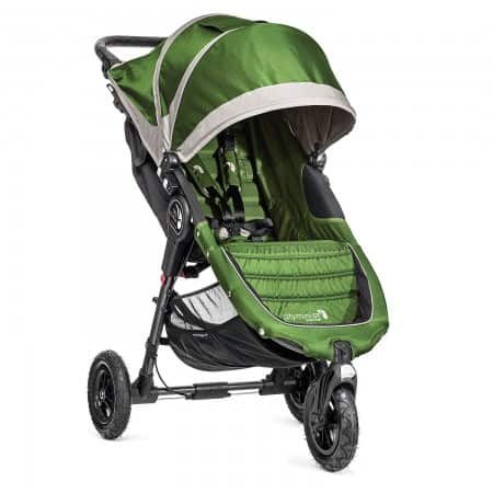 """With larger 8.5"""" foam-filled tires, the Baby Jogger City Mini GT is ready to handle snow and slush in an urban winter."""