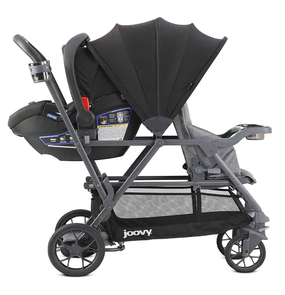 Joovy Is Adding Yet Another Caboose To The Line S Pictured At Right This Single Double Convertible Stroller Has A Huge 50 SPF Canopy