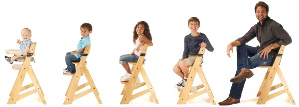 Stages of Keekaroo High Chair Natural