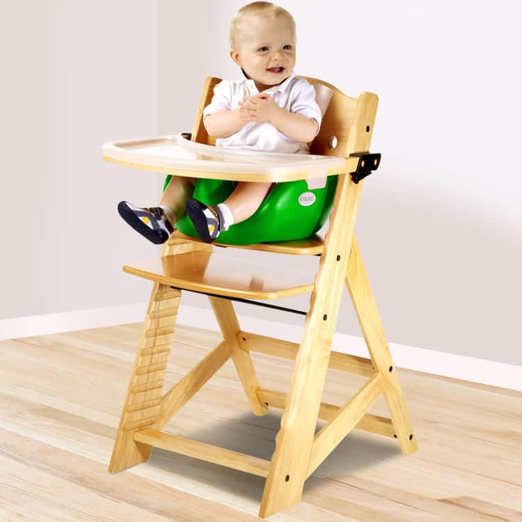 NEW Keekaroo Height High Chair with Infant Insert and Tray Tray Cover