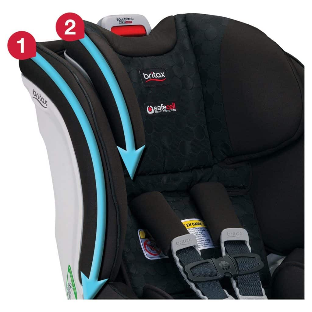 Best Convertible Car Seat Britax headrest protection