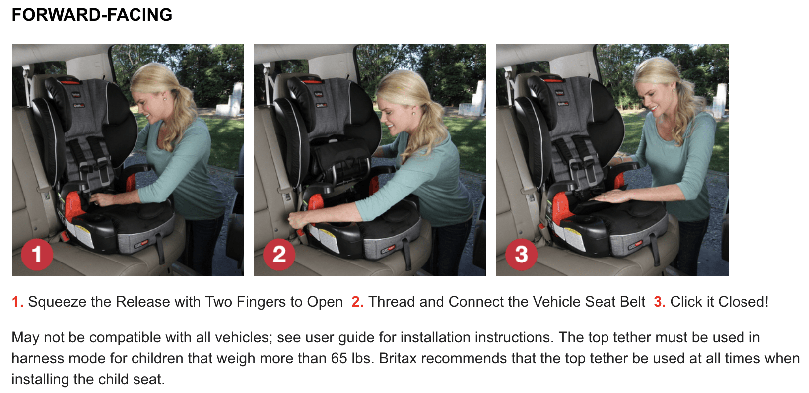 Britax Frontier Click Tight installation