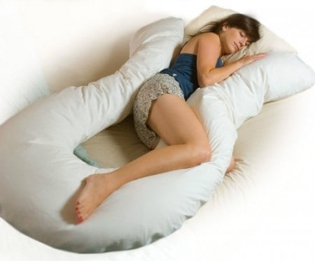u-shaped pillow flipped