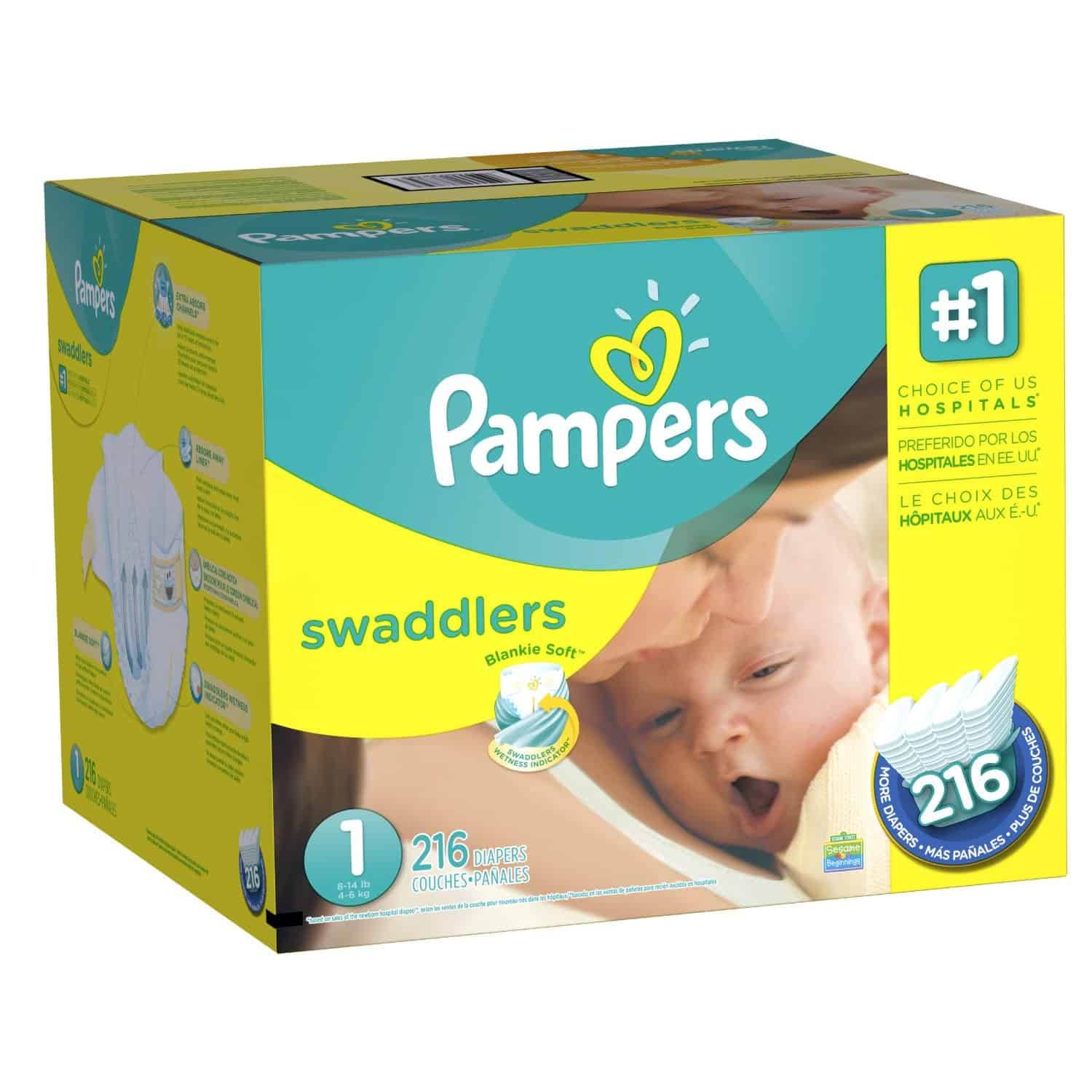 Pampers Swaddlers Diapers Wrap your baby in Pampers Swaddlers diapers, our most trusted comfort and protection choice. Our Blankie Soft diaper with a unique Absorb Away Liner pulls wetness and mess away from baby's skin to help keep your baby comfortable/5().