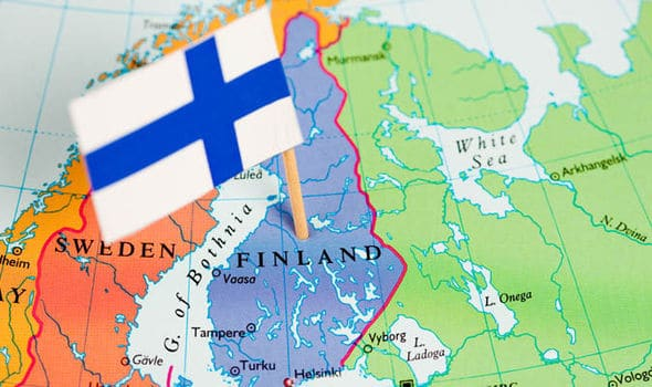 Finland on a map