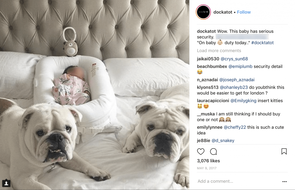 DockATot Review- Pets in bed filtered Screen Shot 2018-06-11 at 12.56.33 PM copy